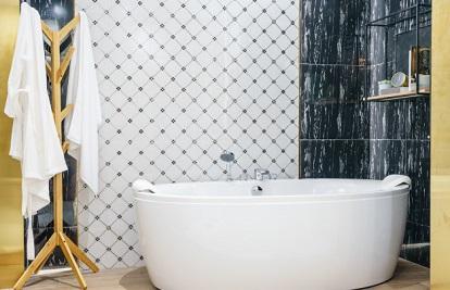 Funkcionāla vannas istaba mazām telpām!