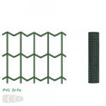 Žogs metināts 50x100 mm, 1.2x25 m, RAL6005