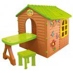 Rotaļu māja Mochtoys ar galdu un krēsliņu 11045