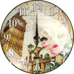 Sienas pulkstenis, apaļš, 30cm