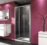 Dušas durvis Huppe X1 1000x1900 mm, Spīdīgs sudrabs/caurspīdīgs stikls