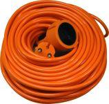 Pagarinātājs 15m, oranža krāsa ,vads 2x1.0mm2