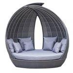 Dārza dīvāns WING ar jumtu un spilveniem