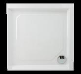 Dušas paliktnis PAA Classic KV, 1000x1000 mm, ar paneli un regulējamām kājām.