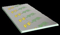 Poliuretāna izolācija saunām Putuplasta Finnfoam FF-PIR 30 SAUNA, 600x1200 mm (cena par loksni)