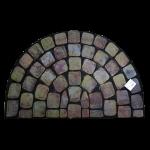 Kājslauķis gumijas, pusapaļš, 60x90 cm