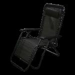 Krēsls atpūtas 177x61x110 cm, Melnbalts