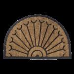 Kājslauķis kokosšķiedras ar gumiju, pusapaļš, 40x60 cm
