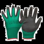 Darba cimdi, neilona, ar nitrila pārklājumu, zaļš/melns, izmērs 10
