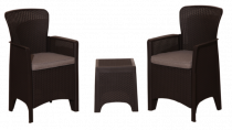 Dārza mēbeļu komplekts, 2 krēsli, galds