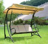 Šūpuļkrēsls, bēšs, 205x125x178 cm