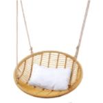Pīts šūpuļkrēsls, piekarams, ar spilveniem, 92x37x92 cm