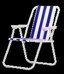 Kempinga saliekamais krēsls 53x44x75cm zils