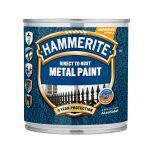 Metāla aizsargkrāsa Hammerite Hammered 0.25 melna