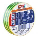 Izolācijas lente Tesa Professional 53988 Zaļi-dzeltena, 20 m/19 mm