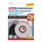 Divpusēja lente Tesa 55791 Powerbond Ultra Strong 1.5 m/19 mm