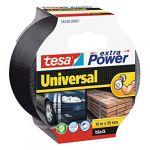 Auduma lente Tesa Extra Power Universal Melna, 10 m/50 mm