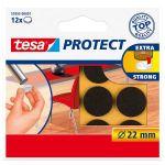Filca aizsargpaliktņi Tesa 57893 Protect Brūni, 12 gab, D22 mm