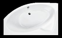 Stūra vanna Paa Cello, akrila, 1700x1100 mm, ar rāmi, labā puse, Glossy White.