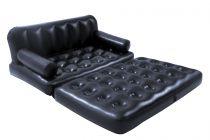 Piepūšamais atpūtas dīvāns/gulta Bestway 5-in-1 Inflatable Double Sofa Lounge Air Bed - Black