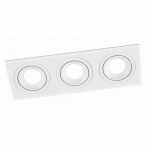 Gaismeklis Leduro SQUARE 3 PL-SQW3, 3x GU10, 92x260, alumīnijs, balts