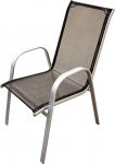 Dārza krēsls, metāla, melns 54x70x95cm