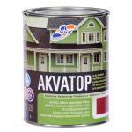 Krāsa koka fasādēm RILAK AKVATOP Pusmatēta sarkanbrūna 0.9L