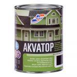 Krāsa koka fasādēm RILAK AKVATOP Pusmatēta melna 0.9L