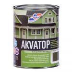 Krāsa koka fasādēm RILAK AKVATOP Pusmatēta tumšzaļa 0.9L