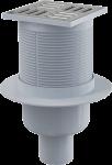 Traps ar nerūsējošā tērauda resti, 105x105mm, D50, vertikāls