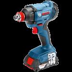 Akumulatora triecienskrūvgriezis/triecienatslēga Bosch GDX 18V-180 Professional L-Boxx