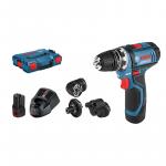 Akumulatora urbjmašīna-skrūvgriezis Bosch GSR 12V-15 FC Professional 2 x 2.0 Ah, 4 x GFA, L-Boxx