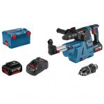 Akumulatora perforators Bosch GBH 18V-26 F + GDE 18V-26 Professional 2 x 6.0 Ah, L-Boxx