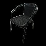 Pīts metāla krēsls 55x56x74 cm, Melns