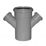 Iekšējās kanalizācijas dubultatzars Magnaplast DN110/50/50 45°