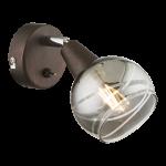 Sienas gaismeklis GLOBO ISLA 1xE14, max 40W, bronza, 54347-1