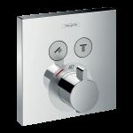 Iebūvējama dušas termostata virsapmetuma daļa Hansgrohe ShowerSelect, hroms