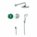 Iebūvējams dušas termostata komplekts Hansgrohe Croma Select S/Ecostat S Showerset
