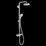 Dušas termostats Hansgrohe Croma Select E Showerpipe 180 2jet, balts/hroms