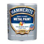 Krāsa metālam HAMMERITE SMOOTH BW 0.7l, spīdīga