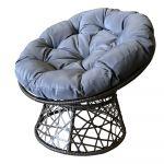 Atpūtas krēsls ar spilvenu 98x86x76 cm, pelēks