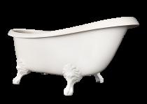 Akmens masas vanna Paa Victoria Glossy White ar kājām Antica, 1700x830x610mm.