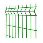 Paneļa žogs, cinkots ar PVC , 200x50/4 mm,  1.23x2.5 m, Zaļš