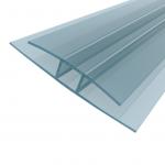 Savienojuma profils Plastilux HP 10 mm polikarbonāta loksnēm, 6 m, caurspīdīgs