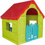 Bērnu rotaļu māja Keter Wonderfold Playhouse (saliekama) 29202656732, sarkana/zaļa/zila