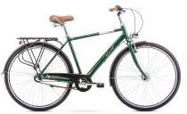 """Pilsētas velosipēds Romet Grom 28"""" 3S 2020 2028130 Zaļš L(20)"""