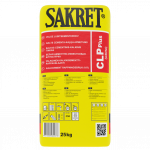 Cementa-kaļķa apmetums SAKRET CLP PLUS balts CSII