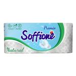Tualetes papīrs Soffione Natural 3 slāņi 8 ruļļi, Balts