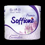 Tualetes papīrs Soffione Toskana Lavander 3 slāņi 4 ruļļi, Balts-Violets