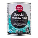 Ūdens bāzes krāsa logiem Vivacolor Special Window Akva Pusspīdīga A-bāze 0.9L
